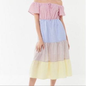 Urban Outfitters Off-The-Shoulder Tiered Dress